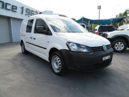 2015 Volkswagen Caddy 2K MY15 Maxi Crewvan TDI250 White 7 Speed Auto Direct Shift Van