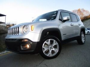 2017 Jeep RENEGADE LIMITED (4X4, LEATHER, DUAL REMOVABLE MOONROO