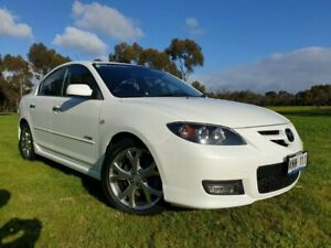 2007 Mazda 3 BK1032 SP23 Crystal White Pearl 5 Speed Sports Automatic Sedan Medindie Walkerville Area Preview