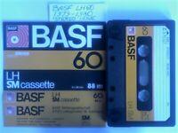 9x 1979-1990 BASF CASSETTE TAPES LH SM, LH EI, LH MI, CHROMDIOXID SUPER II, FERRO EXTRA I /SUPER I