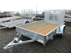 High Sides Galvanized 6x10 Trailer