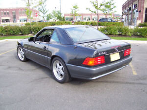 1992 Mercedes-Benz 500-Series Black Convertible