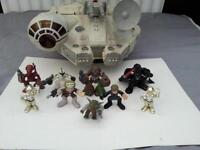 star wars galaxy heroes millennium falcon and figures