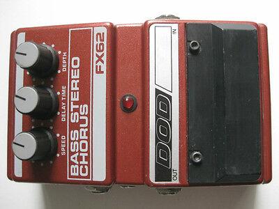 Vintage DOD FX62 Bass Stereo Chorus Guitar Effect Pedal