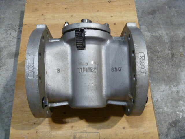 "8"" Xomox Tufline 316ss Fig 0367 300# Flanged Ptfe Seat Plug Valve Fcty Repaired"