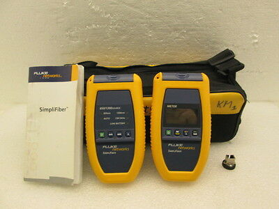 Fluke Simplifiber Fiber Verification Cable Test Kit Ftk150 With Sc Adapter