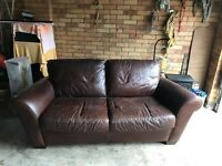 Soft leather 2 seater sofa - £100