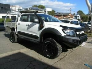 2015 Ford Ranger XLT 3.2 (4x4) White Dual Cab Utility Roselands Canterbury Area Preview