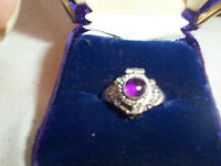 """Sterling Silver and Amethyst """"Poison"""" Ring"""
