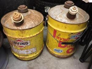 oil cans vintage tables