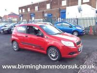 2009 (09 Reg) Chevrolet Aveo 1.2 S 3DR Hatchback RED + LOW MILES