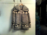 AUTHENTIC COWICHAN INDIAN SWEATER JACKET