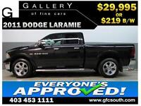 2011 DODGE RAM LARAMIE CREW *EVERYONE APPROVED* $0 DOWN $219/BW!