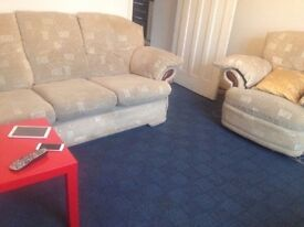 Sofa 3+1 and a recliner for sale ,smoke free house