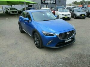 2017 Mazda CX-3 DK Akari (FWD) Blue 6 Speed Automatic Wagon Heatherbrae Port Stephens Area Preview
