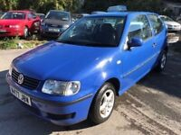 Volkswagen Polo 1 litre, starts and drives well, MOT until 14th November, ideal first car, cheap to