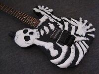 Limited Edition Skull & Bones Hand Carved Electric Guitar not Ibanez fender Epiphone Schecter Esp