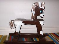 Wooden Hand Painted Rocking Horse