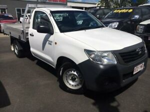 2014 Toyota Hilux TGN16R MY14 Workmate 4x2 White 5 Speed Manual Cab Chassis Bungalow Cairns City Preview