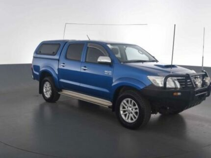 2014 Toyota Hilux KUN26R MY14 SR5 (4x4) Tidal Blue 5 Speed Automatic Dual Cab Pick-up Virginia Brisbane North East Preview