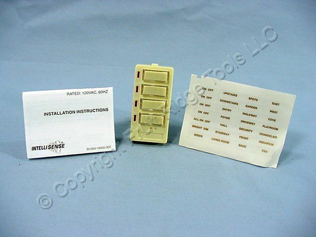 New Leviton Decora Face For DHC Scene Controller 4-Button ON/OFF Ivory 16450-S