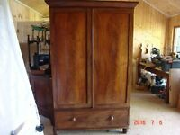 Large Antique Mahogany Wardrobe Late Georgian Victorian Furniture - Delivery Possible