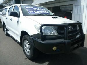 2010 Toyota Hilux KUN26R MY10 SR White 5 Speed Manual Utility Edwardstown Marion Area Preview