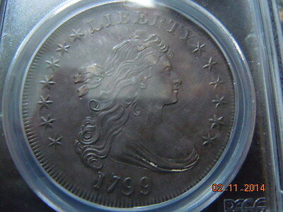 1799 DRAPED BUST DOLLAR-PCGS UNC DETAILS! SPECTACULAR COIN! HIGH MS DETAILS!