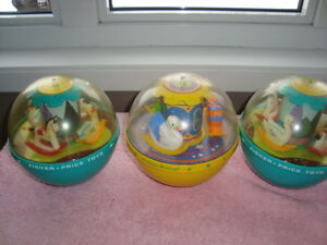 3 BOULES FISHER PRICE VINTAGE 8.00CHACUNES