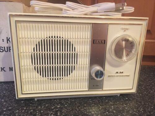 Vintage IAK 5 Tube Superheterodyne Radio Model K-50 w/ Box