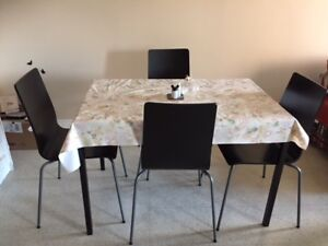 ikea dining table small with 4 chairs
