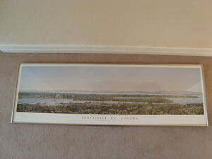 FRAMED PANORAMIC VANCOUVER VIEW PRINT 50''X16'' West Island Greater Montréal image 3