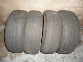 4 Steel Wheels fitted with 185/60R15 Winter Tyres