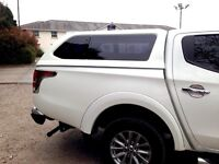 Hard Top Canopy GST Plus WHITE Mitsubishi L200 2015 On D/Cab New Shape NO VAT