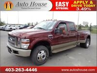 2008 FORD F350 KING RANCH DIESEL DUALLY LEATHER NAVI LONG BOX
