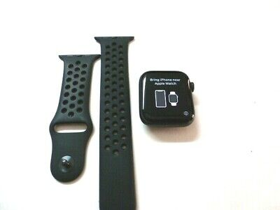 USED Apple Watch Series 5 44mm Space Gray Case Black Band - GPS ONLY