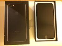"Apple iPhone 7 128GB (4.7"" screen) Jet Black Onyx Unlocked SIM-free Grade A mint Condition w. BOX"