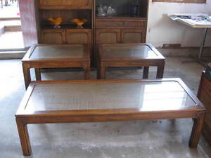 1 coffee table; 2 end tables
