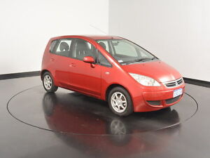 2007 Mitsubishi Colt RG MY07 ES Red 5 Speed Manual Hatchback Victoria Park Victoria Park Area Preview