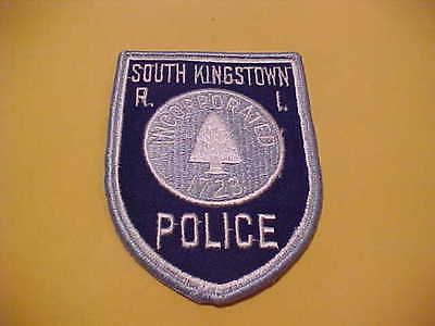 SOUTH KINGSTOWN  RHODE ISLAND POLICE PATCH SHOULDER SIZE NEW T2