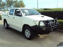 2010 Toyota Hilux KUN26R MY10 SR Glacier White 4 Speed Automatic Utility Acacia Ridge Brisbane South West Preview