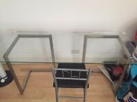 Tables, Desks, Chairs, Paintings, Wineracks, Shelving, stereo cassette player and bathroom cabinet