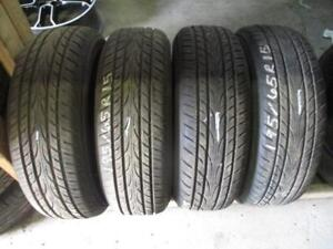 195/65R15 SET OF 4 USED YOKOHAMA A/S TIRES
