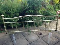 Brass plated headboard for sale for a double bed.