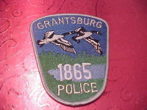 GRANTSBURG WISCONSIN POLICE PATCH SHOULDER SIZE UNUSED***********