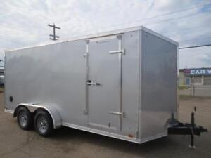 SALE 7 x 16 DISCOVERY CARGO TRAILER WITH REAR RAMP DOOR