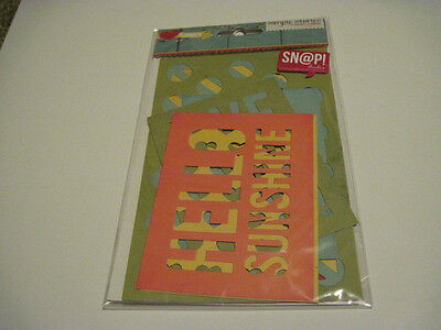Scrapbooking Crafts Simple Stories SNAP I Heart Summer Cuts Cut Outs Layering
