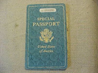 ORIGINAL VINTAGE 1960s US SPECIAL PASSPORT US NAVY CHIEF MISSION TO PORTUGAL
