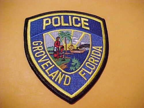 GROVELAND FLORIDA POLICE PATCH SHOULDER SIZE UNUSED