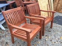 PAIR Willington Garden Chairs. New. Available Immediately.